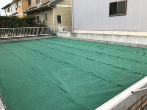 防草シートの施工例